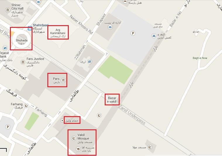 Pars Museum Map